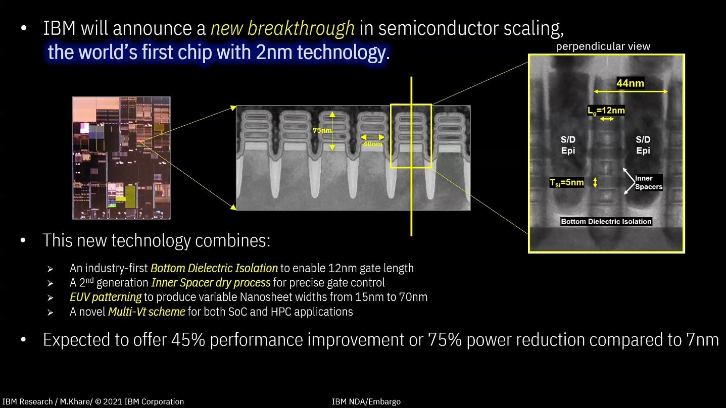 IBM宣布已经制造出全球首颗2nm EUV芯片